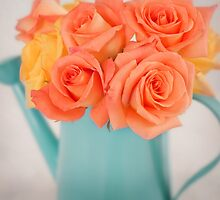 Beautiful orange and yellow roses by carolynrauh