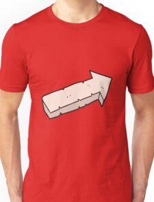 cartoon stone pointing arrow Unisex T-Shirt