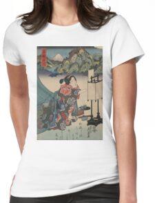 An inn at Hakone - Eisen Ikeda - 1835 Womens Fitted T-Shirt