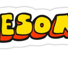 cartoon awesome word Sticker