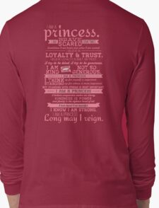I Am a Princess (version 2) Long Sleeve T-Shirt
