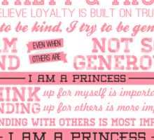 I Am a Princess (version 2) Sticker