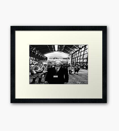 slender man at san japan  Framed Print