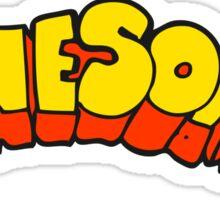 cartoon word awesome Sticker