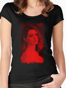 Anne Hathaway - Celebrity Women's Fitted Scoop T-Shirt