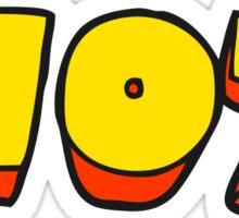 cartoon word hot Sticker