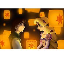 "Tangled - Rapunzel and Eugene ""I see the light"" Photographic Print"