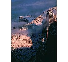 HALFDOME AND CATHEDRAL SPIRE Photographic Print