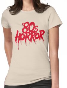 '80s Horror Womens Fitted T-Shirt