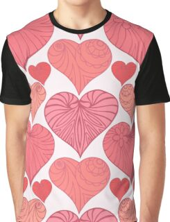 Pink hearts. Graphic T-Shirt