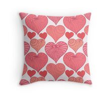 Pink hearts. Throw Pillow