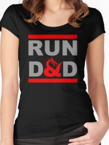 Run Dragon Fun Women's Fitted Scoop T-Shirt