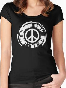 Peace Robot Fun Women's Fitted Scoop T-Shirt
