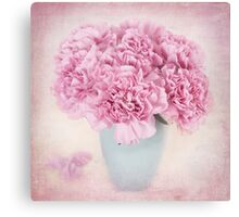 A beautiful bouquet of mauve Carnations Canvas Print