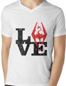 Skyrim Love (Black) Mens V-Neck T-Shirt