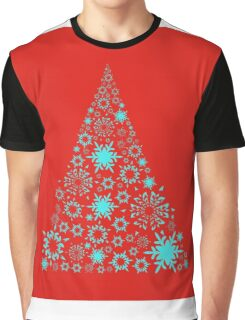 Christmas card,Christmas tree on red background,vector illustration Graphic T-Shirt