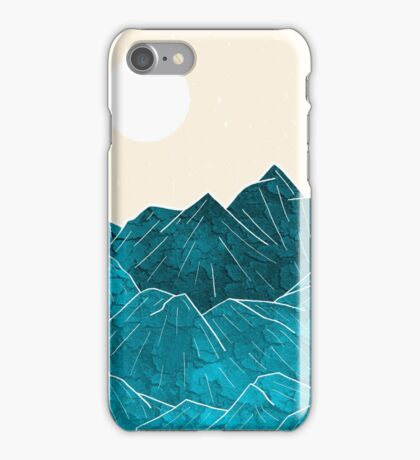 The mountains under the white sun iPhone Case/Skin