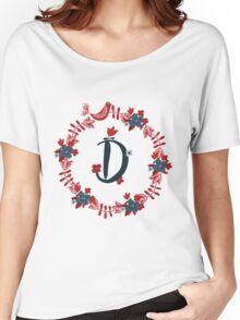 Scandinavian Monogram D Women's Relaxed Fit T-Shirt