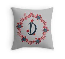 Scandinavian Monogram D Throw Pillow