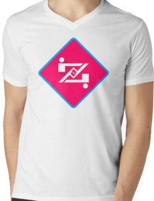 Symbol Plot Funny Mens V-Neck T-Shirt