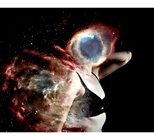 girl in cosmos  Photographic Print