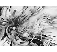 Axion of Evil - Watercolor Painting B&W Photographic Print