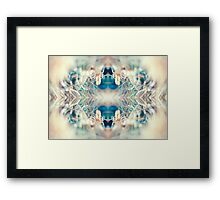 MICRO WORLD CREATURE MOUTH Framed Print