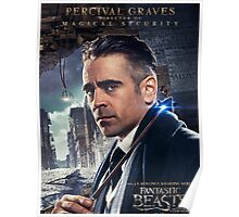 Fantastic Beasts and Where to Find Them Percival Graves Poster Poster
