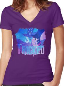 Trick-ed Women's Fitted V-Neck T-Shirt