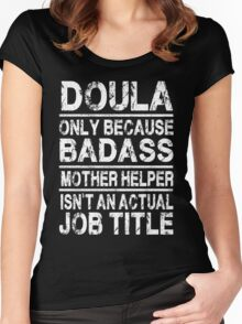 Doula T-shirt 2017 Women's Fitted Scoop T-Shirt