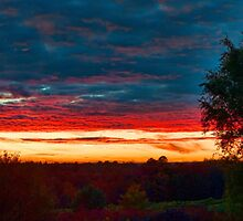 Sunset in the mountains of Sullivan County by Penny Rinker