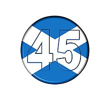FREE SCOTLAND 45 Button Design Photographic Print