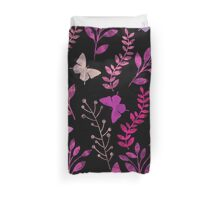 Watercolor Floral and Butterfly  Duvet Cover