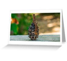 Hand grenade Greeting Card