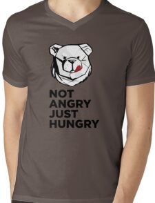ROBUST Not angry just hungry Mens V-Neck T-Shirt
