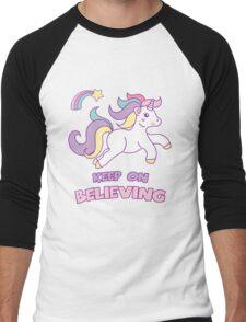 Unicorn Keep On Believing Men's Baseball ¾ T-Shirt