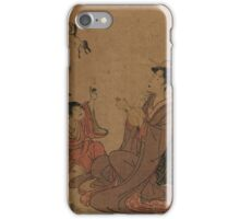 A modern allegory of the Chinese sage Zhang Guo lao - Toyohiro Utagawa - 1795 iPhone Case/Skin