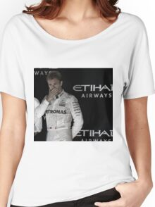 Nico Rosberg Formula 1World Champion 2016 Women's Relaxed Fit T-Shirt