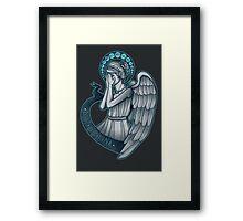 Peek a boo, Angel Framed Print