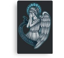 Peek a boo, Angel Canvas Print