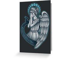Peek a boo, Angel Greeting Card