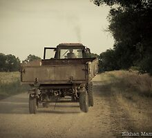 Old tractor by elkhan