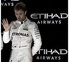 Nico Rosberg Formula 1World Champion 2016 Photographic Print