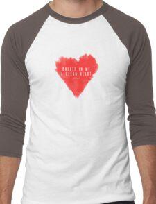 Christian Quote Men's Baseball ¾ T-Shirt