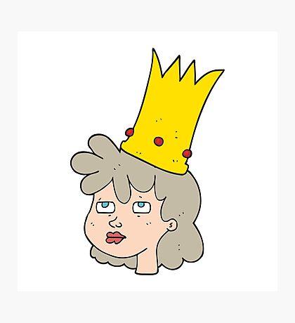 cartoon queen Photographic Print
