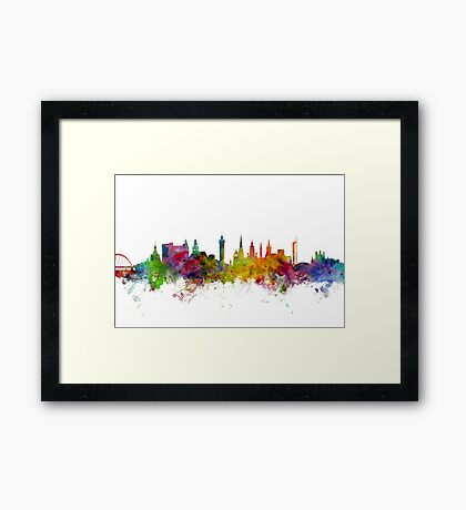 Glasgow Scotland Skyline Framed Print