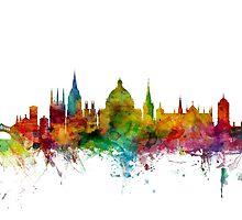 Oxford England Skyline by Michael Tompsett