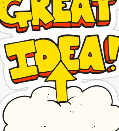 cartoon upload to the cloud Sticker