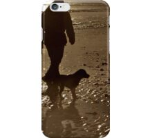Sepia beach iPhone Case/Skin