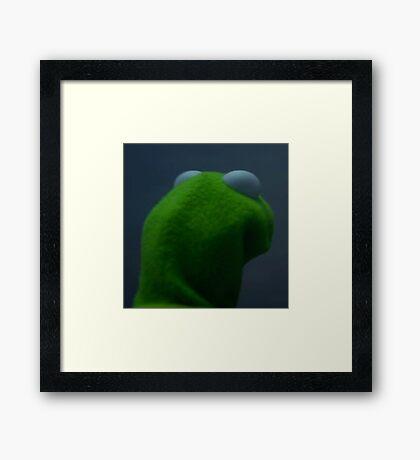 me to me Kermit Framed Print